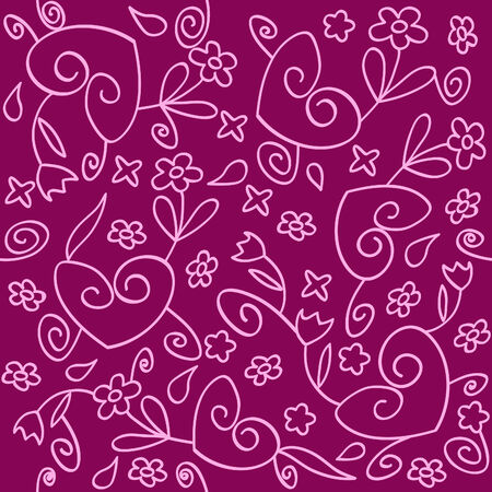 seamless background of pink and purple ornament Vector