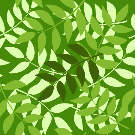 seamless background made of layered green brunches Stock Vector - 7582244