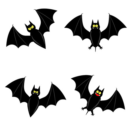 chauve souris: cute bat dans 4 vari�t�s diff�rentes