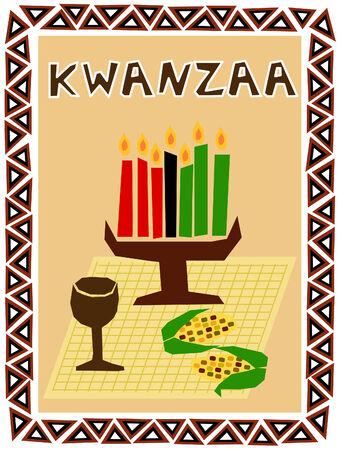 traditional kwanzaa stuff drawn in simple manner