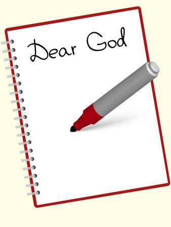 letras negras: Carta a Dios escrita en el Bloc de notas
