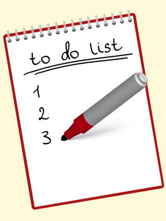 marker writing a to do list at the notebook