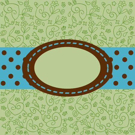 Cartolina verde illustrazione vettoriale Archivio Fotografico - 14040670