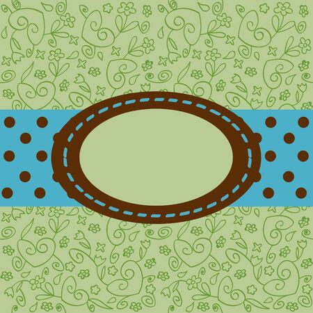 green greeting card vector illustration