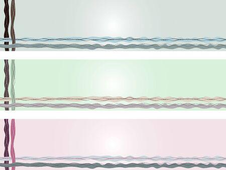 set of three horizontal  Illustration