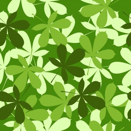 grass verge: chestnut leaves background seamless pattern