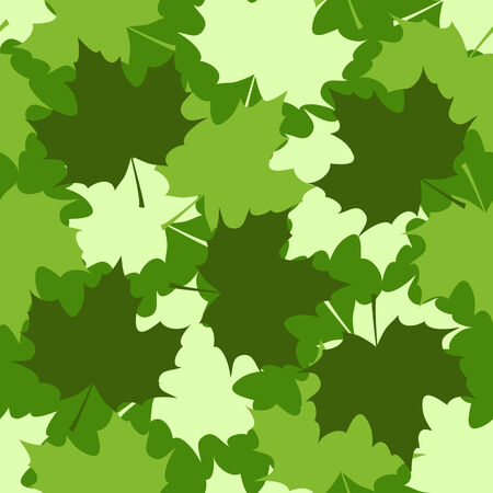 grass verge: maple leaves background vector seamless pattern Illustration