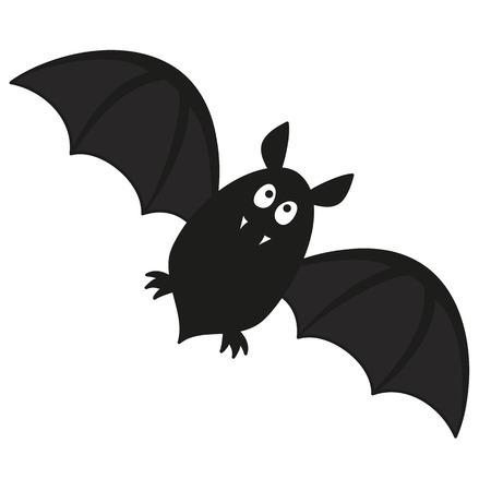 cute flying bat with fangs vector illustration Фото со стока - 32454190