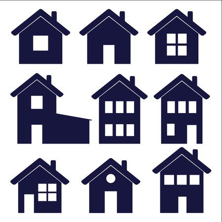Eine Reihe von Haus Icons? Vektor-Illustration Standard-Bild - 36072928