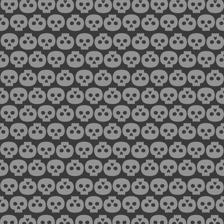 background made of human skulls in rows
