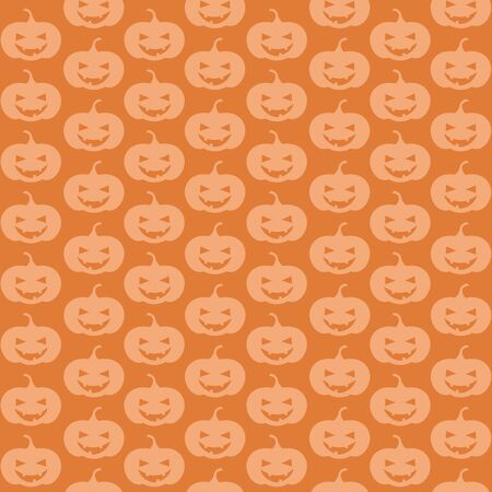 seamless background of jack-o-lantern pumpkins in rows
