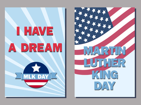 king: set of two cards for the Martin Luther King Day