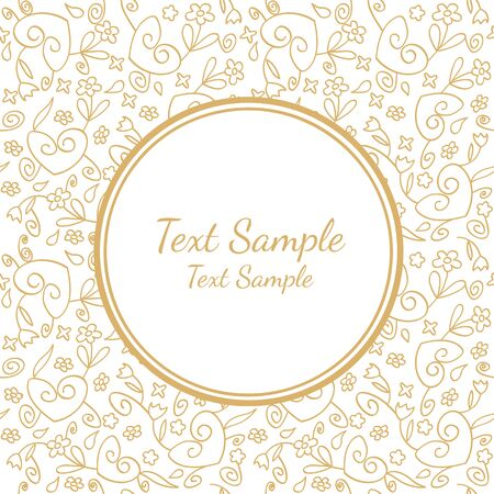 vector invitation card with hearts and flower background and empty space in the center