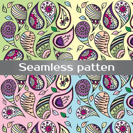 wallpapper: Seamless colorful vector pattern with spring flowers.Floral patten. Vector flowers pattern. Colorful floral background. Floral elements. Textile floral pattern. Spring background.