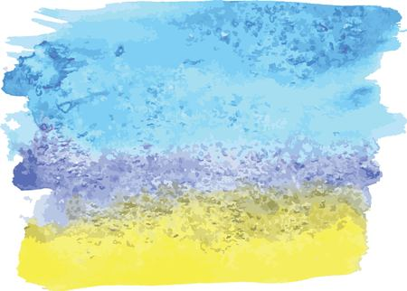 the divorce of blue and yellow watercolor