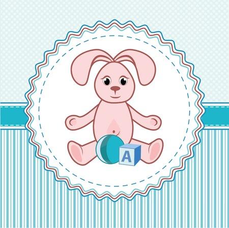 Label toys a rabbit