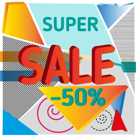 super sale discount abstract colorful background