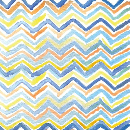 Strips of triangles drawn watercolor assorted colors