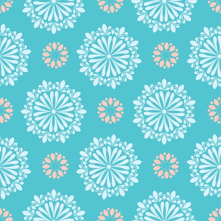 bright mandala pattern in green background with white and orange color Foto de archivo - 120933079