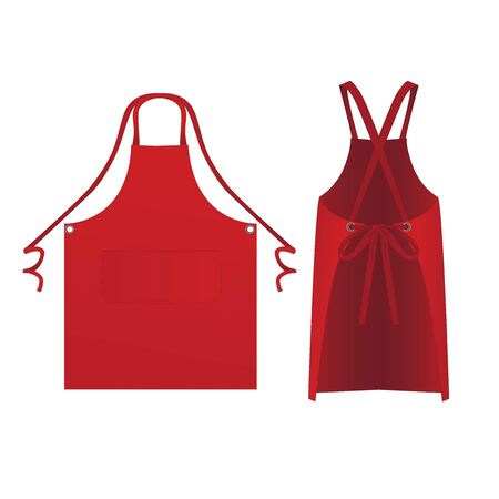 proforma apron with two ties and patch pockets front and back view