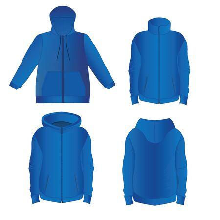 Blue color jackets design.