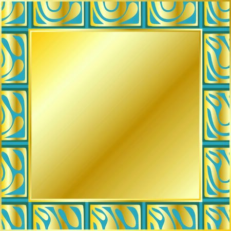 gift card divorces in art Deco style gold with green color