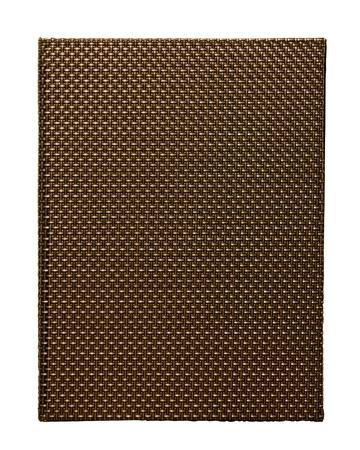 Gold Weaving file folder isolate on white background photo