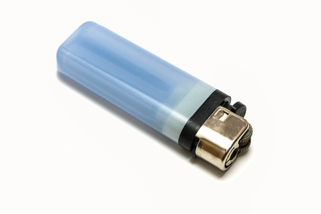 self contained: Blue Lighter isolate on a white background