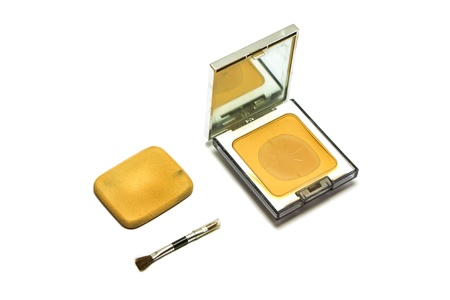 Cosmetic Powder Compact and small brushes photo