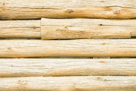 Log wall photo