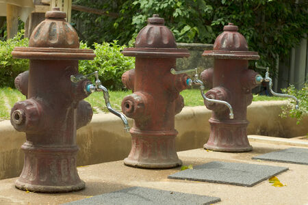 Three Faucet for foot washing out door photo