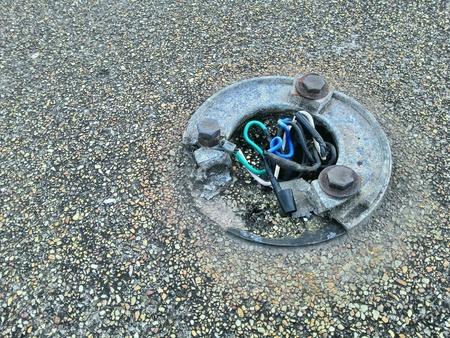 wire: Danger wire on floor
