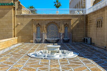 Fountain at the Mausoleum of Mohammed V in Rabat - Morocco 22.04.2019