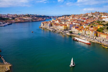 City landscape, view of the city from the upper point. Porto, Portugal, February, 2018 Stock Photo