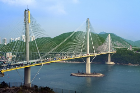 Ting Kau Bridge in Hong Kong. photo