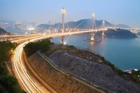 Ting Kau Bridge in Hong Kong. Stock Photo - 9412151