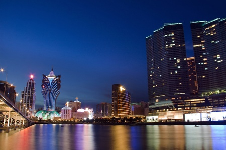 Urban landscape in Macau, Asia.