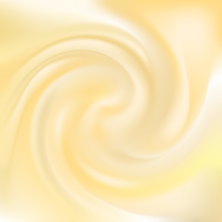 Abstract vector background. Milk. Cream. Butter. The Whirlpool. Funnel. Illustration of a liquid. Vettoriali