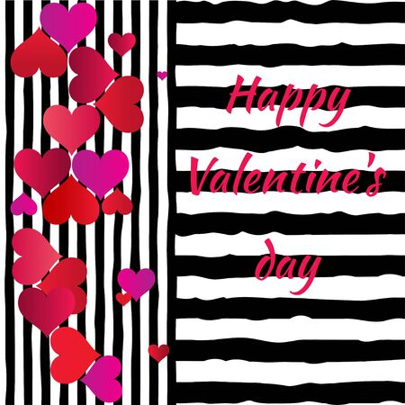 Valentines Day. A heart. The holiday of lovers. Romantic Pattern Vector illustration. Ilustrace