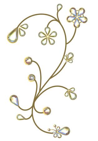 Flowers Jewelry design Ilustrace