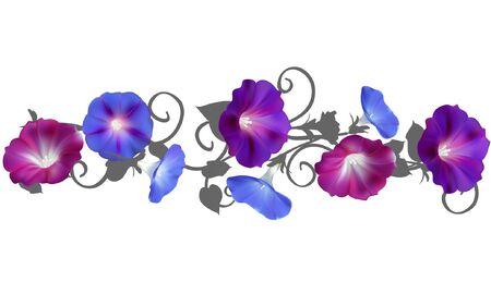 Horizontal floral pattern. Ilustrace