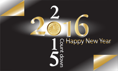 Vector count down with happy new year 2016
