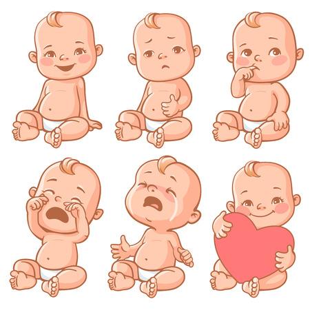 dedo: emoções do bebê ajustado Ilustração