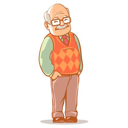portret van de grootvader