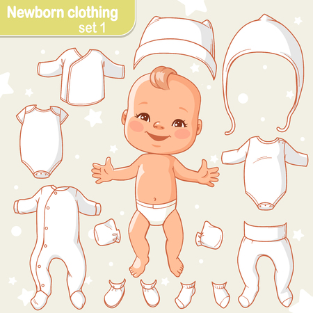 baby clothes set Illustration