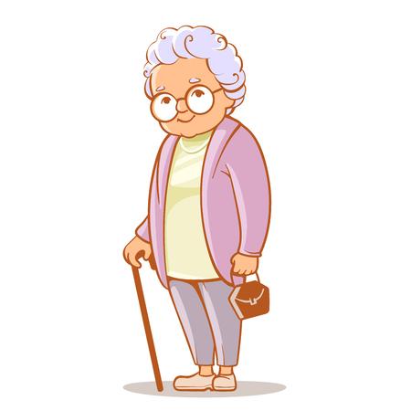 Porträt der Großmutter Standard-Bild - 72812368
