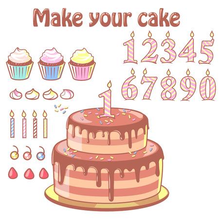 Birthday cake constructor set.