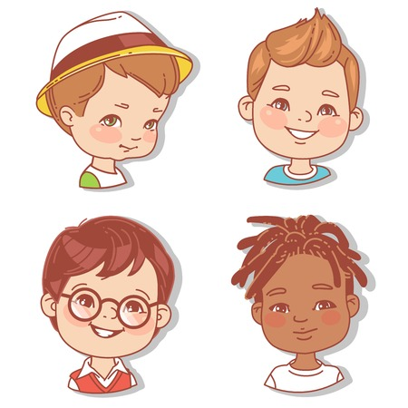 Con caras de niños. Userpics para blog.
