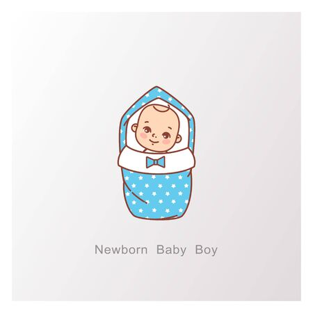 Baby shower design. It is a boy template.
