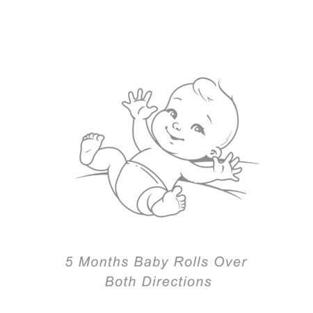 Cute little baby boy or girl in diaper lying on back. Sketchy hand drawn style. Background with toys and objects.